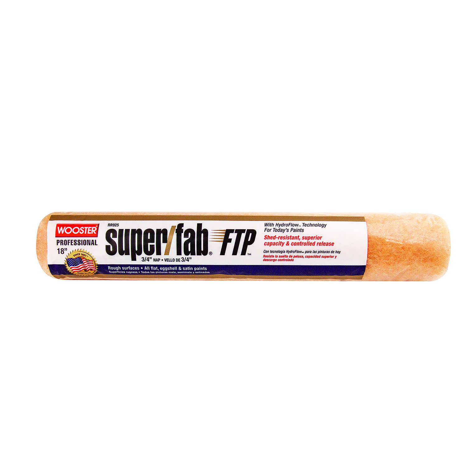 Wooster  Super/Fab FTP  Synthetic Blend  3/4 in.  x 18 in. W Regular  Paint Roller Cover  For Rough