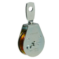 Campbell Chain  2 in. Dia. Zinc Plated  Steel  Swivel Eye  Pulley