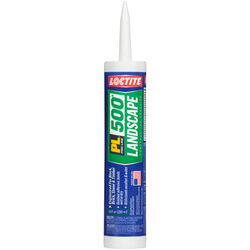 Loctite  PL 500 Landscape Block  Synthetic Rubber  Construction Adhesive  10 oz.