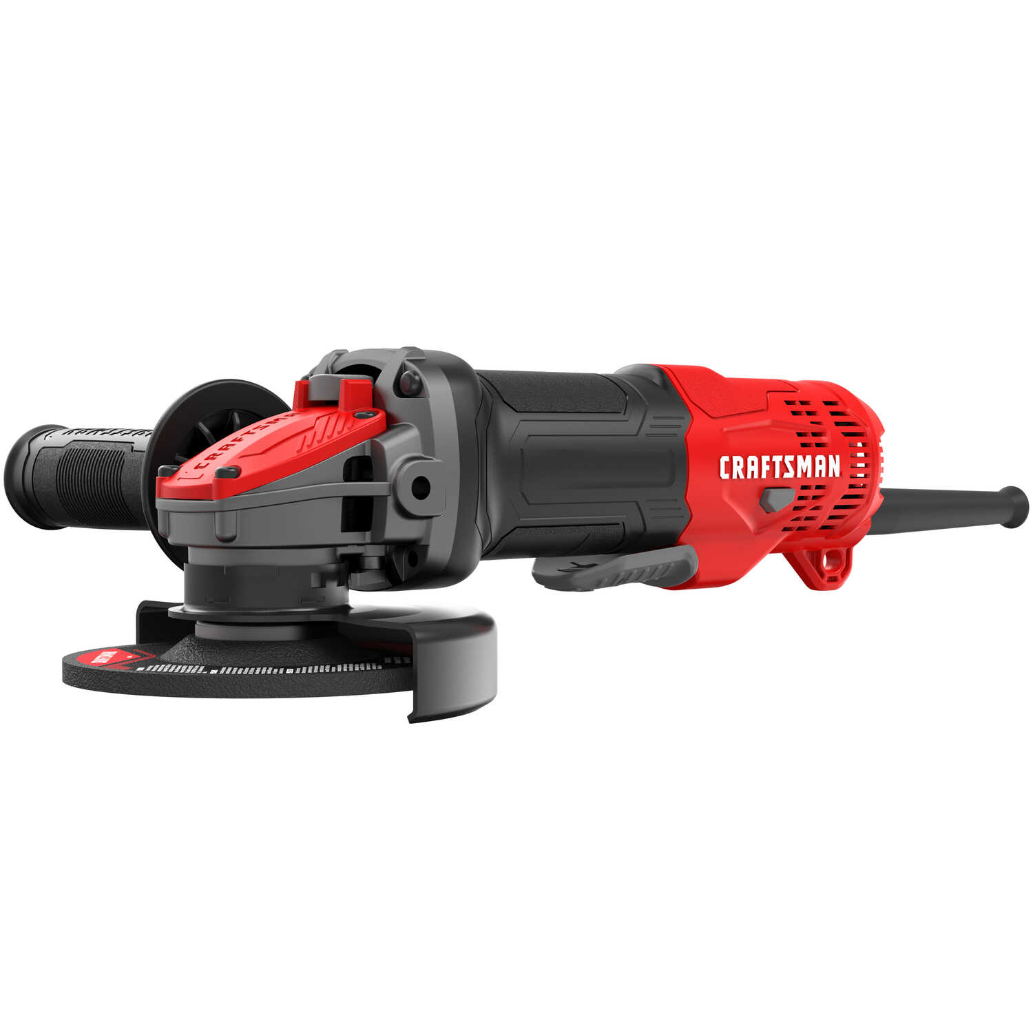 Craftsman  4 in.  Corded  Angle Grinder  12000 rpm Paddle with Lock-On  Red