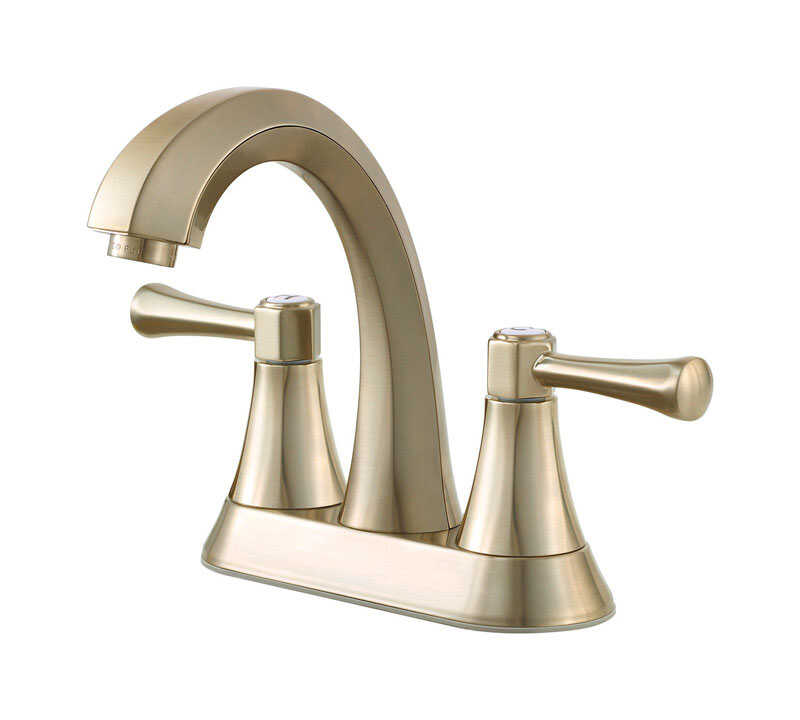 Pfister  Altavista  Two Handle  Lavatory Faucet  4 in. Brushed Nickel