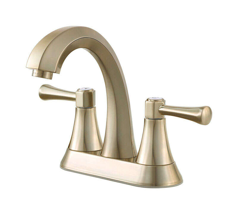 Pfister  Altavista  Brushed Nickel  Two Handle  Lavatory Faucet  4 in.