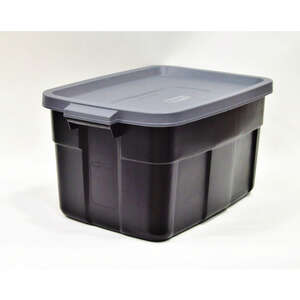 Rubbermaid  Roughneck  16.7 in. H x 32.3 in. D x 20.4 in. W Stackable Storage Box