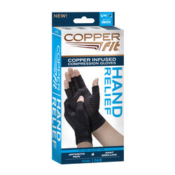 Copper Fit  Compression Gloves  Nylon/Spandex  1 pair