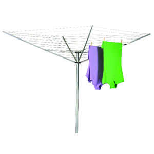 Household Essentials  72 in. H x 73 in. W x 73 in. D Umbrella Clothes Dryer  Aluminum
