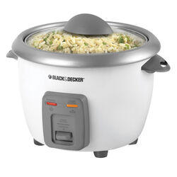 Black and Decker White 6 cup Rice Cooker