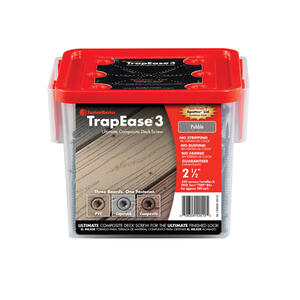 FastenMaster  TrapEase 3  No. 10   x 2-1/2 in. L Torx TTAP  Flat Head Epoxy Coated  Composite Deck S