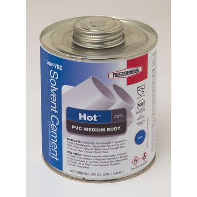Rectorseal  Hot  Blue  Solvent Cement  For PVC 32 oz.
