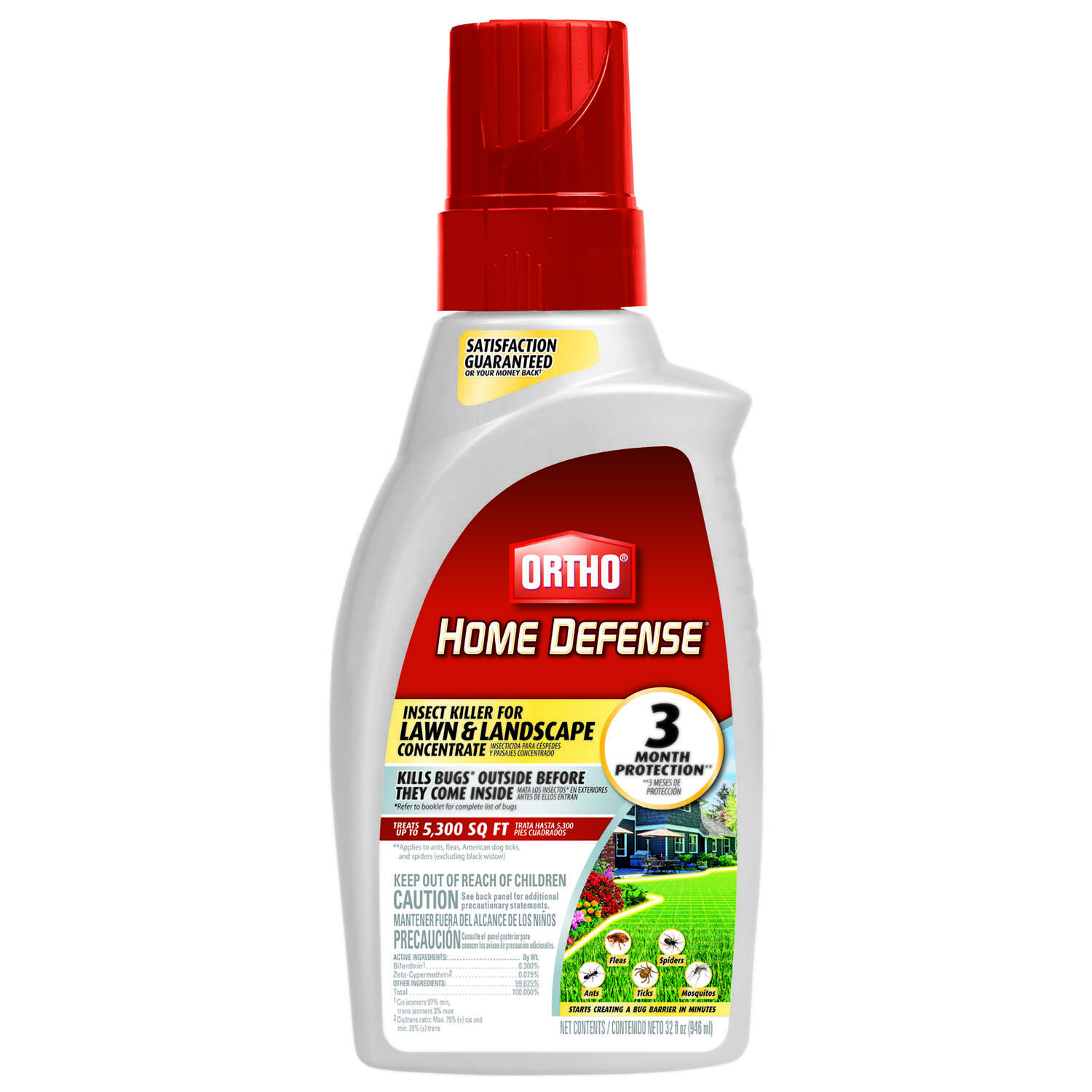 Ortho Home Defense Liquid Concentrate Insect Killer 32 Oz