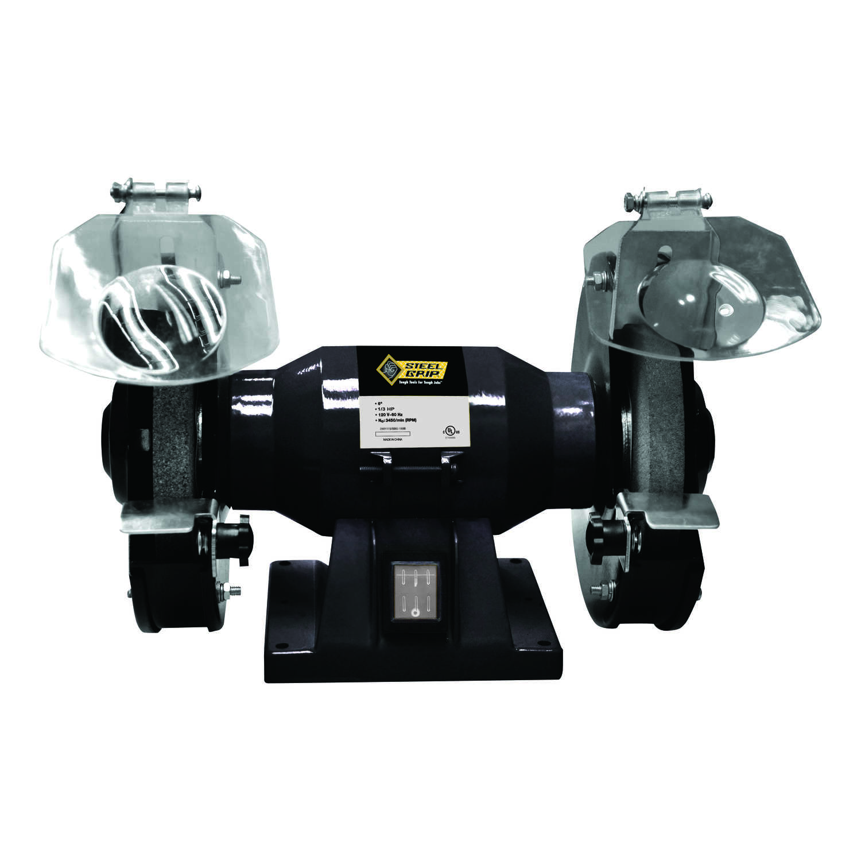 Superb Steel Grip 6 In Bench Grinder 1 3 Hp 1 1 Amps 3450 Rpm Machost Co Dining Chair Design Ideas Machostcouk