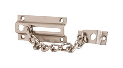 Ives  1-7/16 in. H x 3-3/8 in. L Satin Nickel  Brass  Chain Door Guard