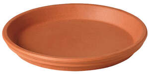 Deroma  1.3 in. H x 11.5 in. W x 9.85 in. L Terracotta  Clay  Natural  Plant Saucer
