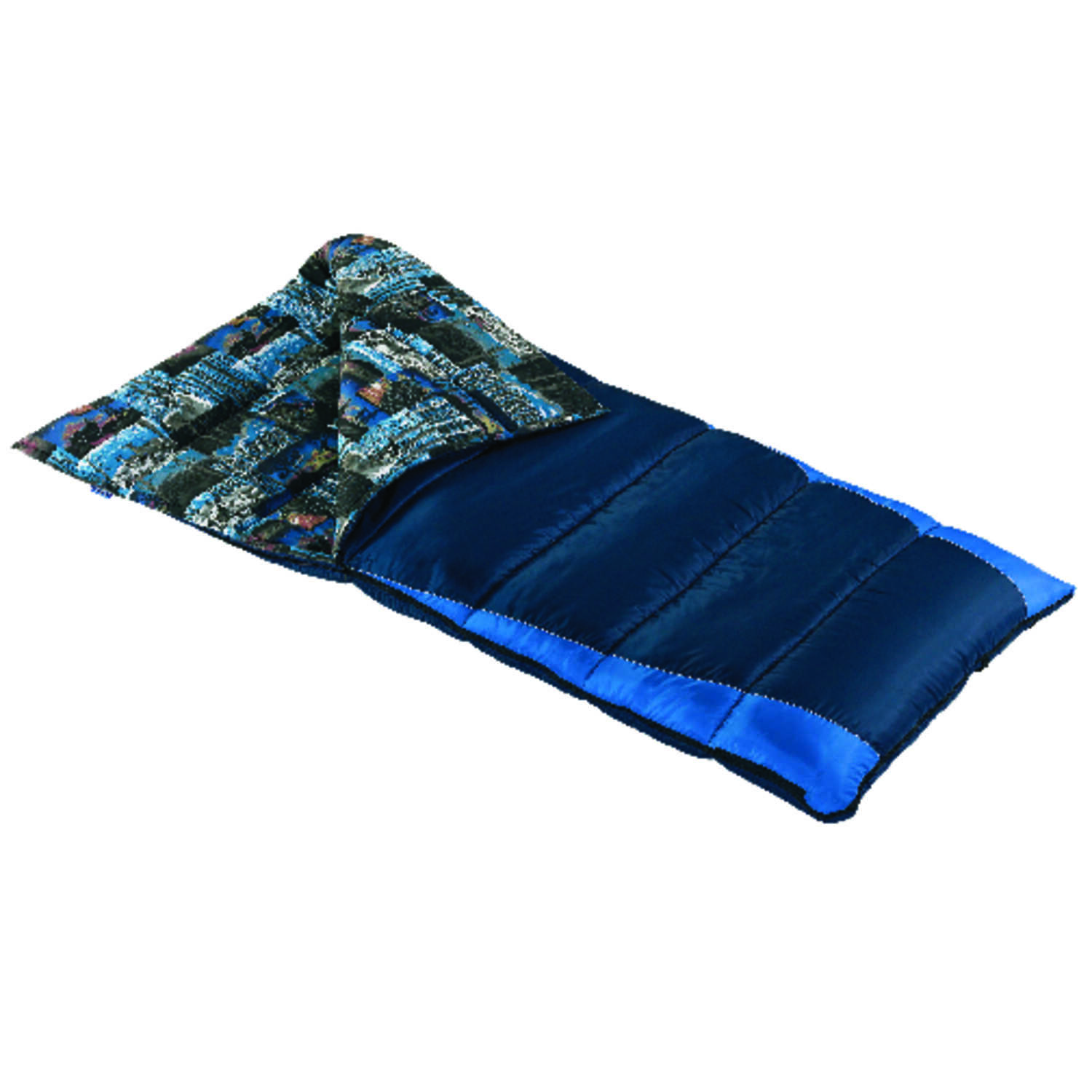 Wenzel  Navy Blue  Sleeping Bag  3 in. H x 38 in. W x 81 in. L 1 pc.