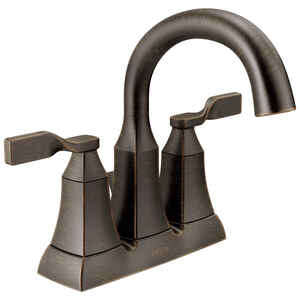 Delta  Sawyer  Venetian Bronze  Two Handle  Lavatory Pop-Up Faucet  4 in.