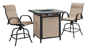 Living Accents  Kensington  3 pc. Steel  Patio Set