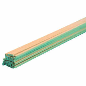 Midwest Products  1/16 in. W x 2 ft. L x 1/16 in.  Basswood  Strip