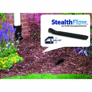 Amerimax  2 in. H x 8 in. W x 28 in. L Black  Plastic  Downspout Extension