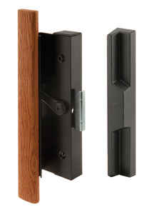 Prime-Line  Wood Tone  Steel  Outdoor  Door Handle Set