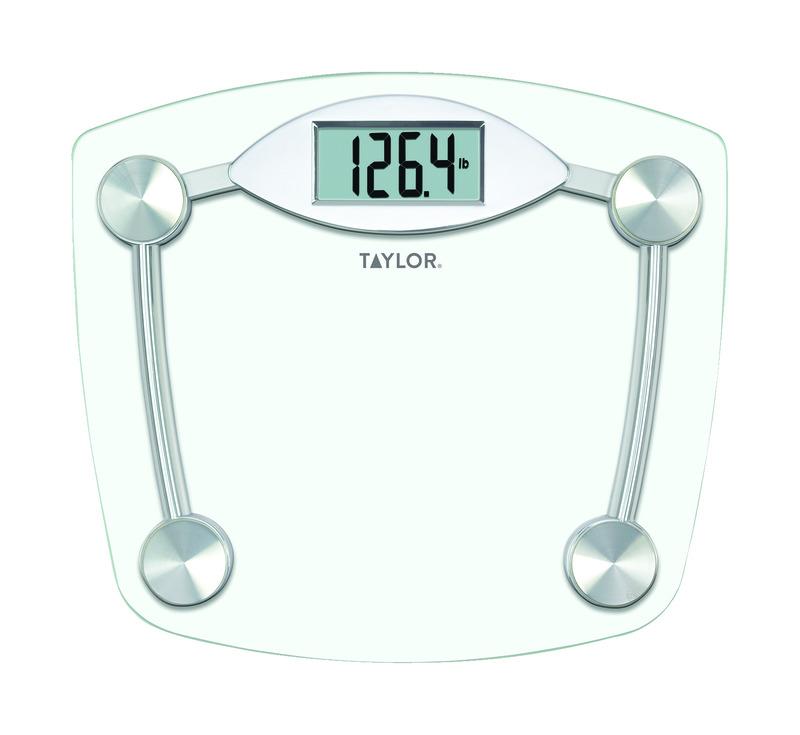 Taylor 330 Lb. Digital Bathroom Scale Chrome