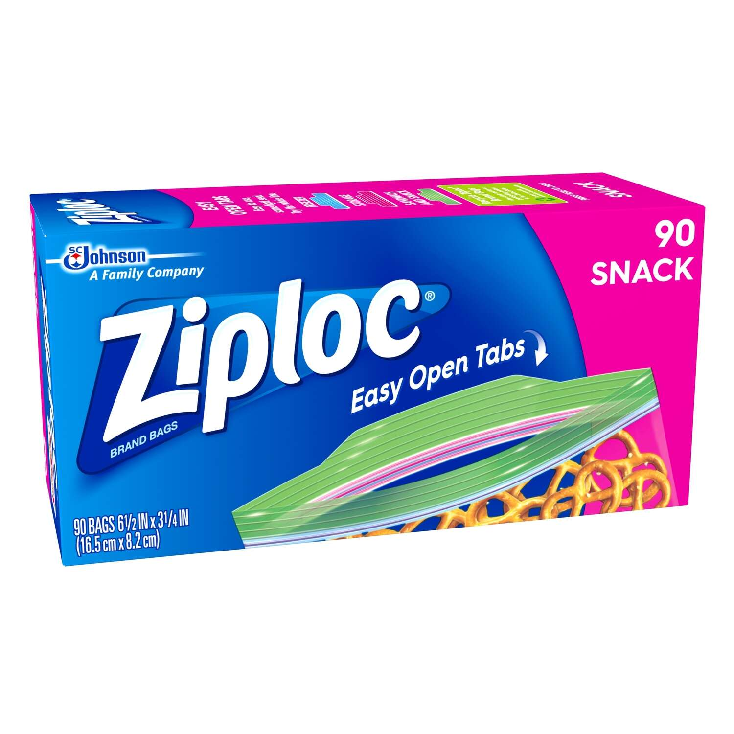 Ziploc Clear Snack Bag 1 pk