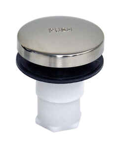 Danco  5/16 in. Dia. Tub Drain Stopper  Plastic  Brushed Nickel