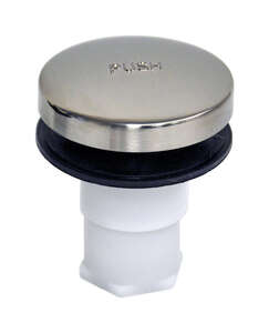 Danco  5/16 stud in. Dia. Tub Drain Stopper  Plastic  Brushed Nickel