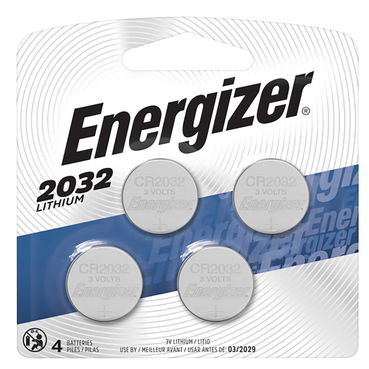 Energizer  Lithium  2032  3 volt Electronic/Watch Battery  4 pk