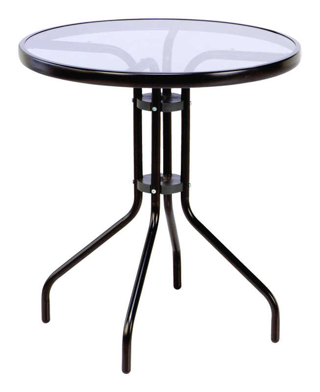 Rio  Hadley  Round  Black  Table