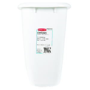 Rubbermaid  3.5 gal. White  Open Top  Wastebasket