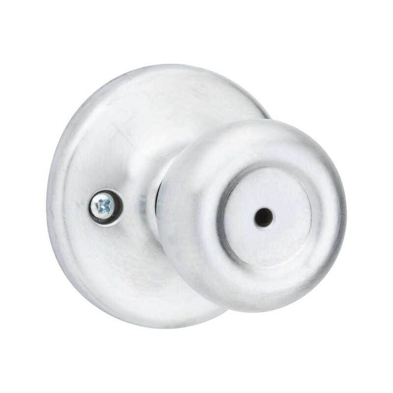 Kwikset  Mobile Home  Satin Chrome  Steel  Privacy Knob  3 Grade Right or Left Handed