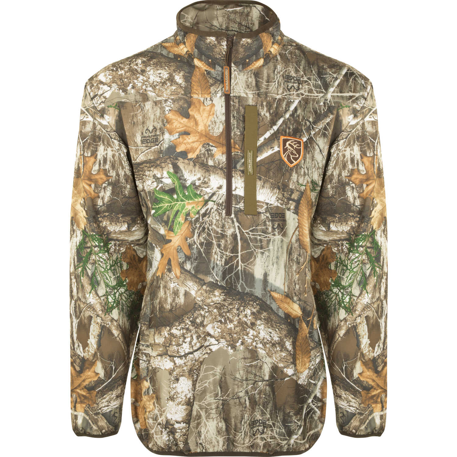 Drake  Camo Tech  Large  Men's  Long Sleeve  Quarter Zip  Realtree Edge  Pullover