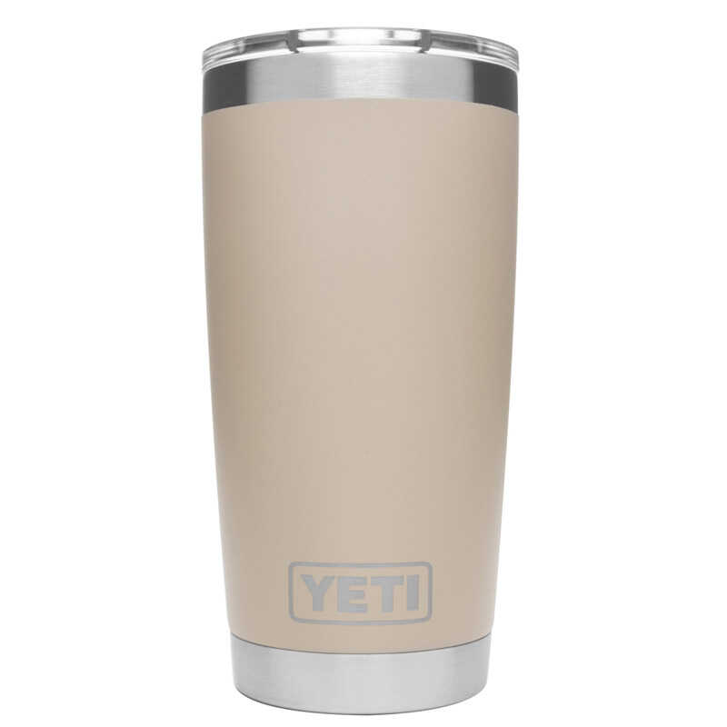 YETI  Rambler  Sand  Stainless Steel  No Sweat  Double Wall Tumbler  BPA Free 20 oz.