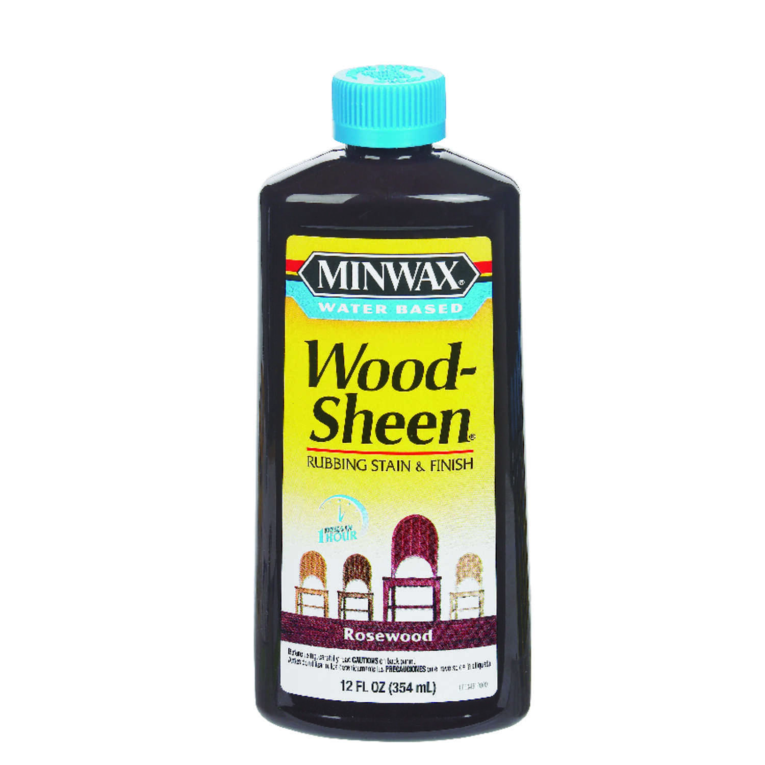 Minwax  Wood-Sheen  Transparent  Rosewood  Deep Base  Latex  Rubbing Stain and Finish  12 oz.