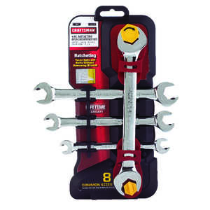 Craftsman  SAE  Ratcheting Wrench Set  11/16 in. Steel  4 pc.