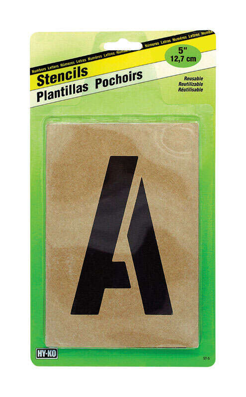 Hy-Ko Number and Letter Stencils Reusable, Water Resistant 5 in.