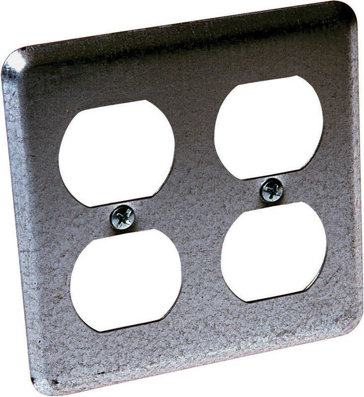 Raco  Square  Steel  2 gang Box Cover
