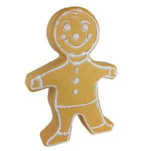 Union Products  Gingerbread Blow Mold  Christmas Decoration  Resin  Brown/White  1 each