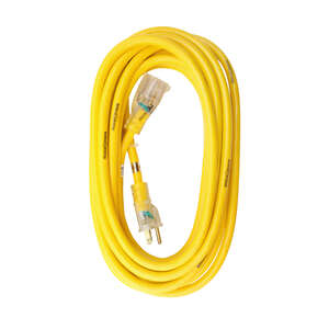 Yellow Jacket  Outdoor  25 ft. L Yellow  Extension Cord  12/3 SJTW