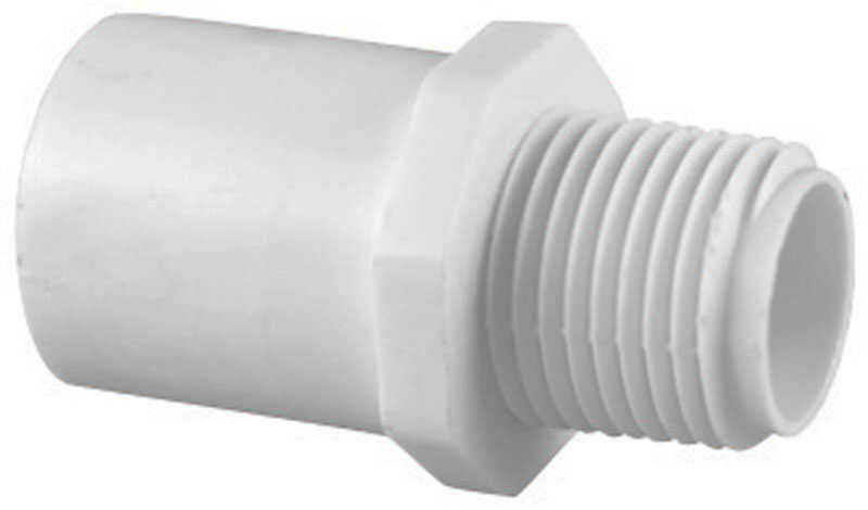 Charlotte Pipe  Schedule 40  3/4 in. FPT   x 3/4 in. Dia. MPT  PVC  Riser Extension