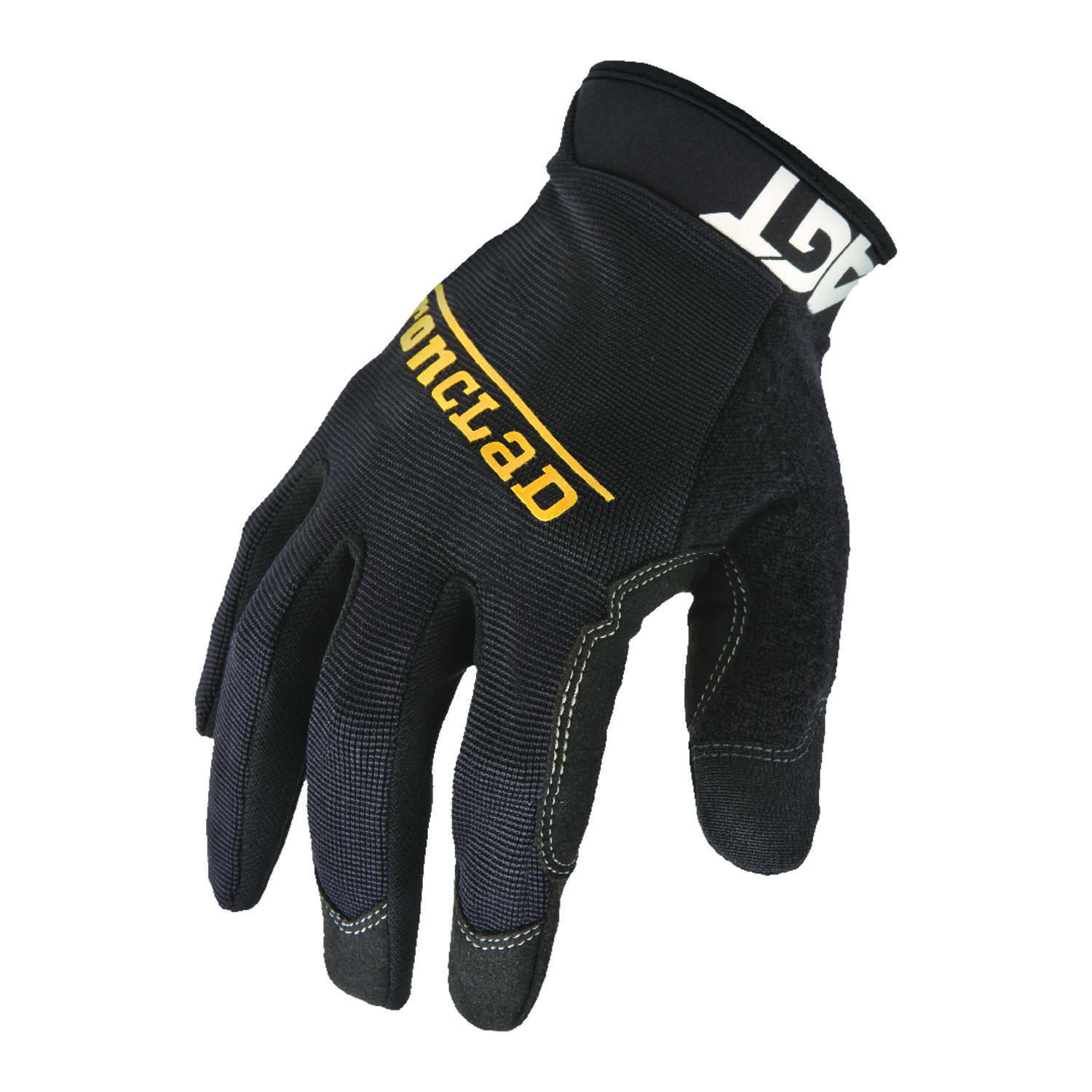 Ironclad  Men's  Synthetic Leather  Work  Gloves  Black  L