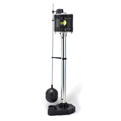 ECO-FLO  1/2 hp 5,000 gph Cast Iron  Vertical Float Switch  AC  Pedestal Sump Pump