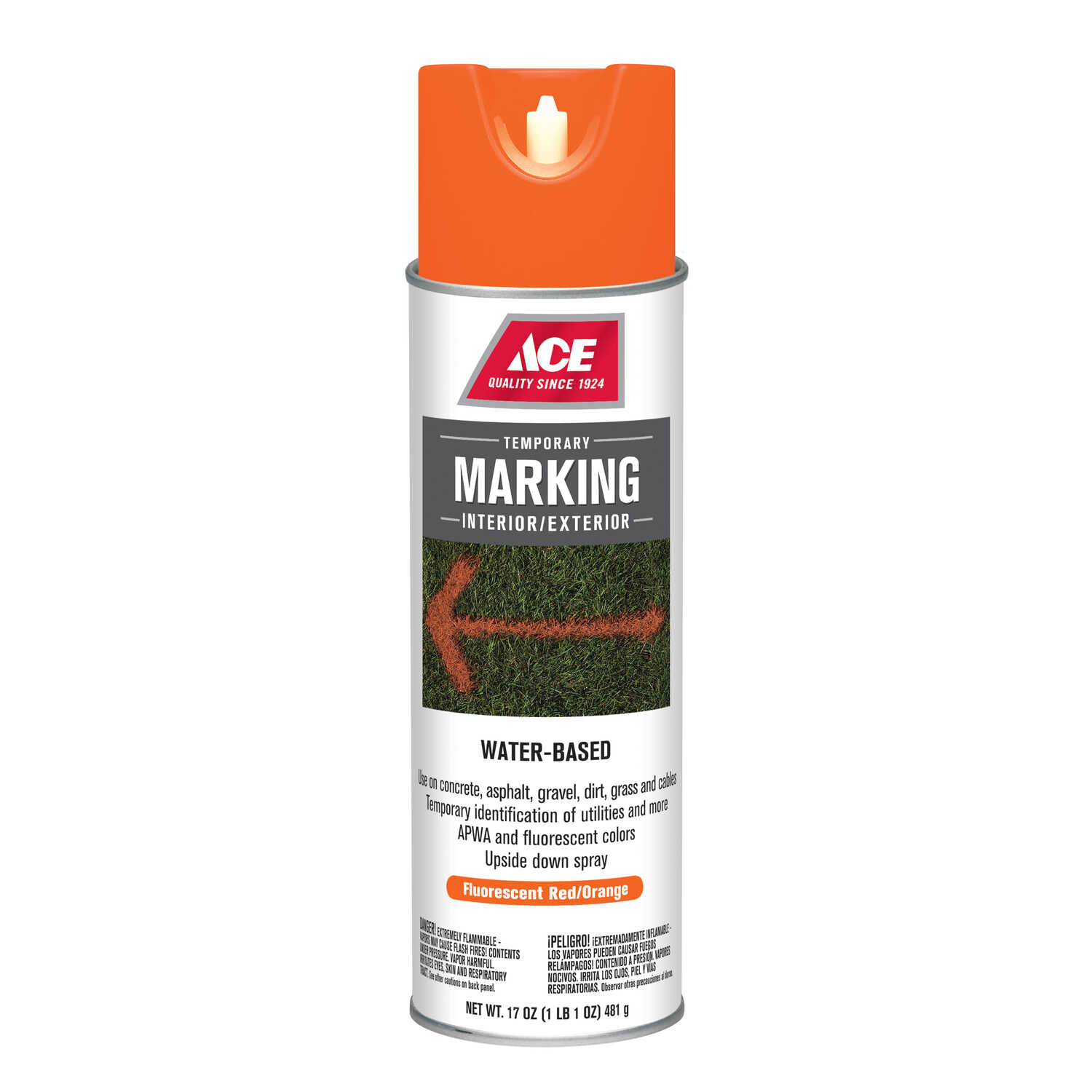 Ace Water-Based Red Field Marking Chalk 17 oz  - Ace Hardware