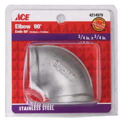 Smith-Cooper  3/4 in. FPT   x 3/4 in. Dia. FPT  Stainless Steel  90 Degree Elbow