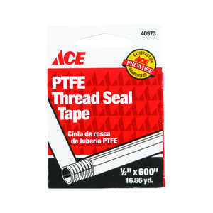 Ace  White  600 in. L x 1/2 in. W Thread Seal Tape  0.4 oz.