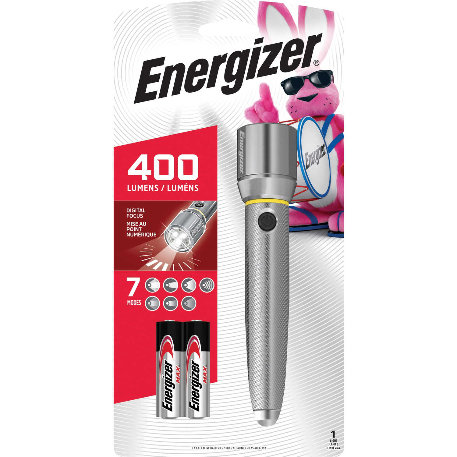 Energizer  400 lumens Black  LED  AA  Flashlight  Black