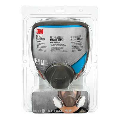 3M  P95  Paint Project  Full Face Respirator  Black  M  1 pk