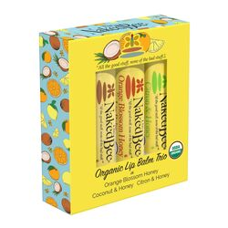 The Naked Bee  Assorted Scent Organic Lip Balm  0.45 oz. 3 pk