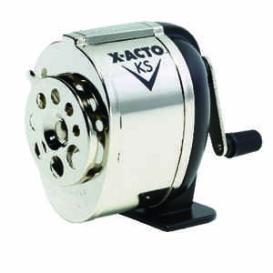 X-Acto  Gray  Manual  Pencil Sharpener  Silver