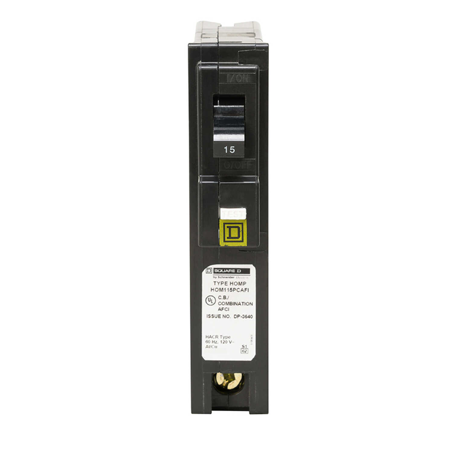 Square D  HomeLine  15 amps Arc Fault  Single Pole  Circuit Breaker