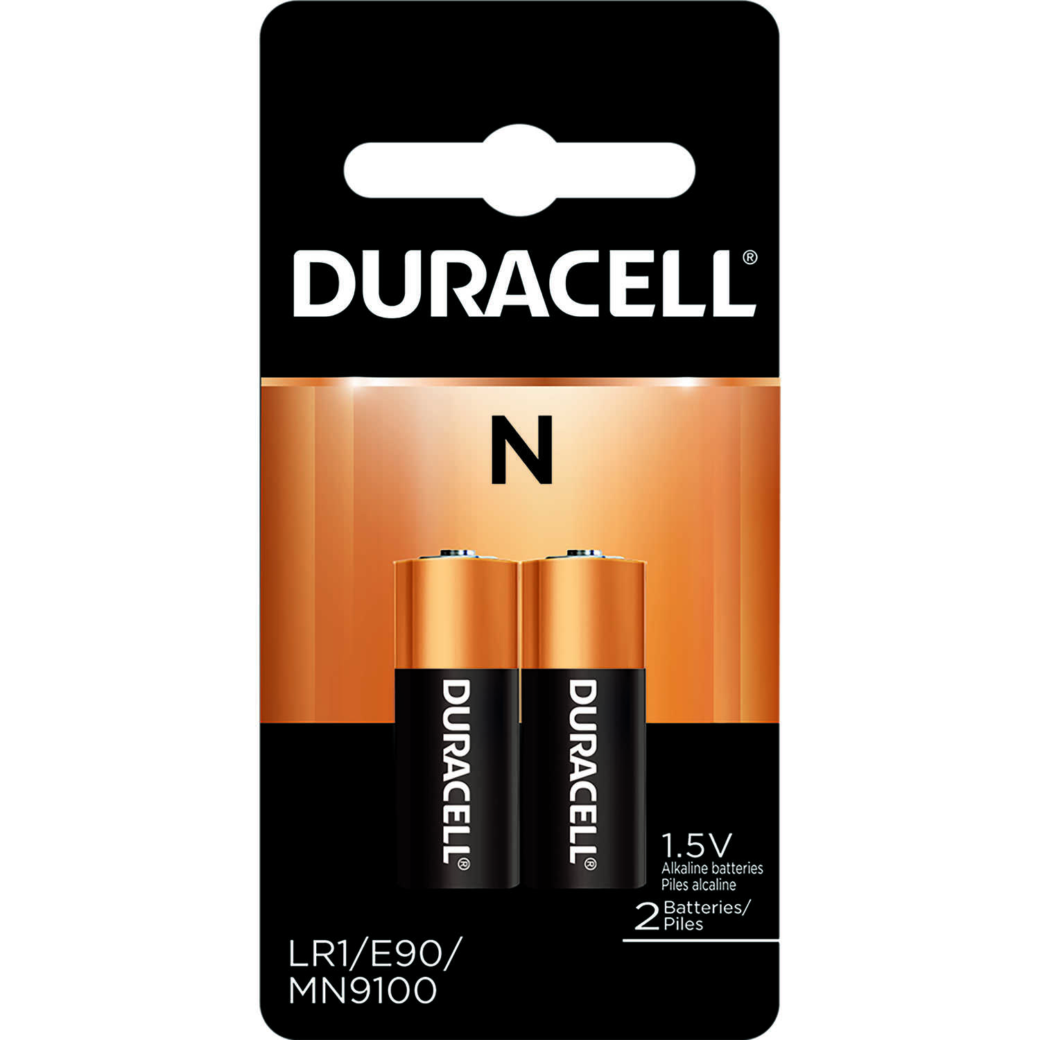Duracell  Alkaline  Medical Battery  MN9100B2PK  2 pk 1.5 volt N